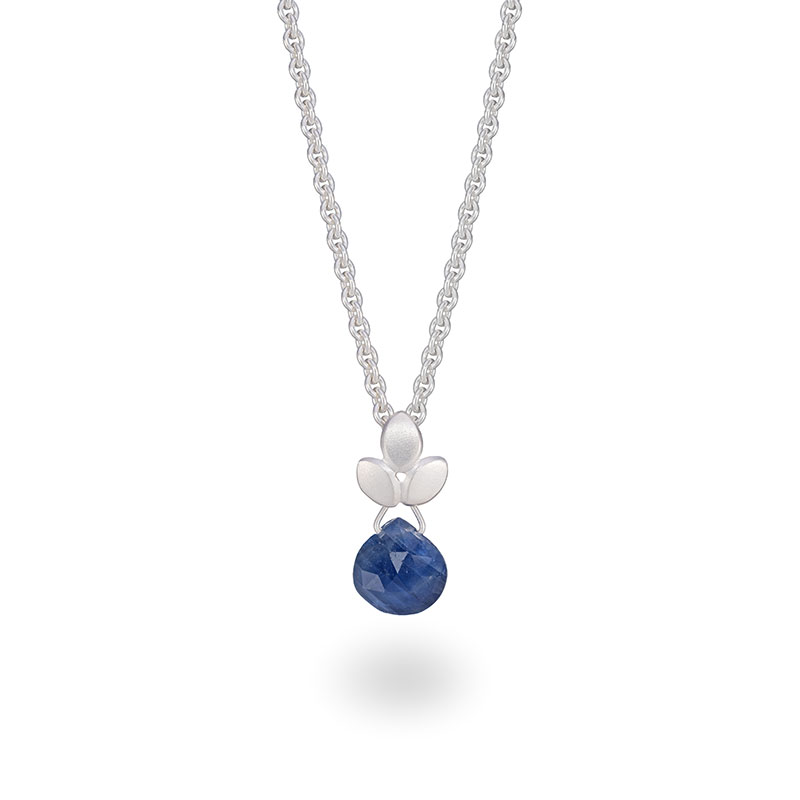 Blue Sapphire Drop Necklace Jacks Turner Designer Jewellery Bristol Uk