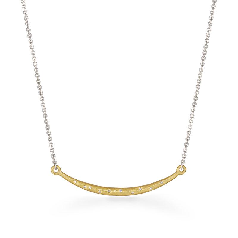Diamond Bar Necklace Silver Goldplated Designed Jacks Turner