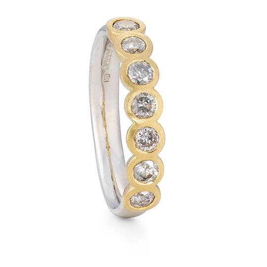 Diamond Eternity Ring Platinum 18Ct Gold Jacks Turner Bristol