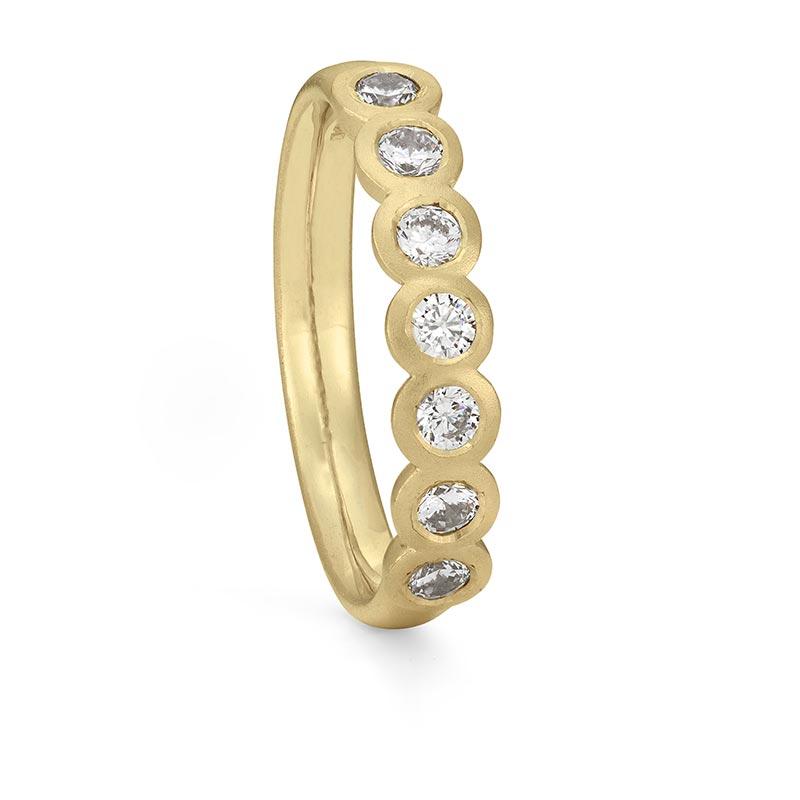 Seven Diamond Eternity Ring Gold Designed By Jacks Turner Bristol Jeweller
