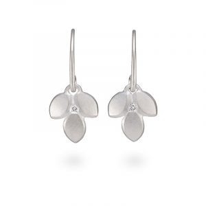 Silver Diamond Drop Earrings Jacks Turner Designer Jewellery Bristol Uk