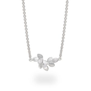Silver diamond necklace - eve collection designed by Jacks Turner Bristol