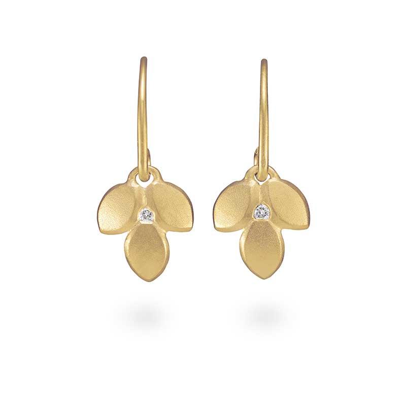 Silver Goldplated Diamond Drop Earrings Jacks Turner Designer Jewellery Bristol Uk