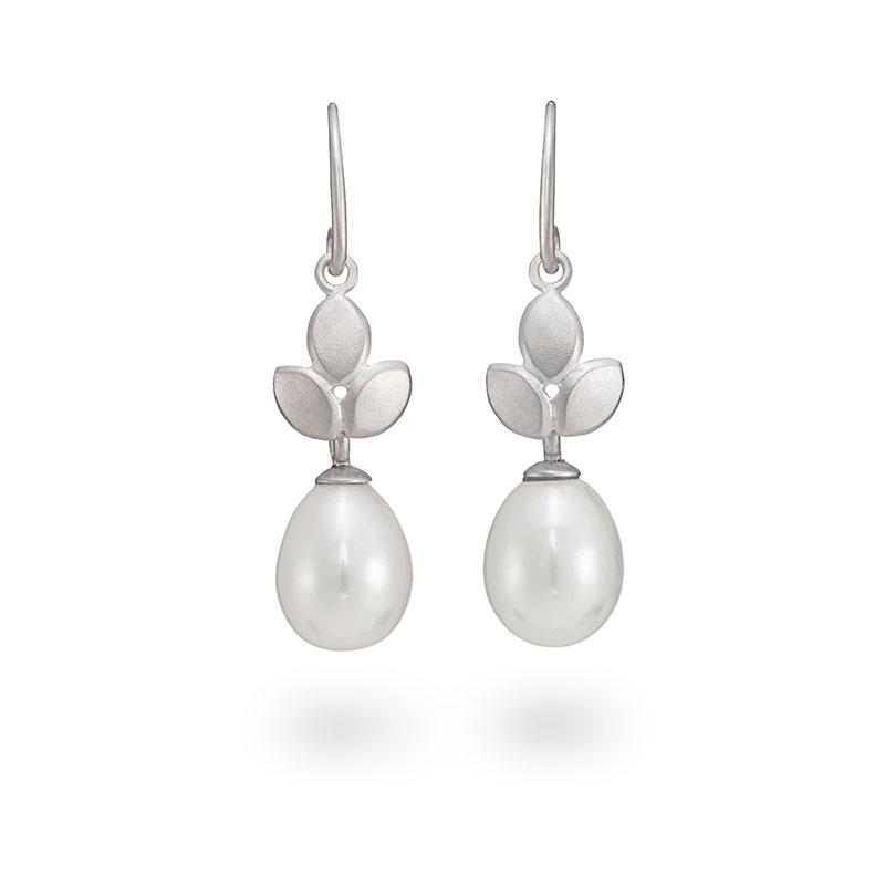 Silver Pearl Drop Earrings Jacks Turner Designer Jewellery Bristol Uk