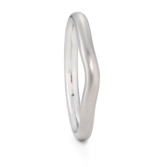 Curved Platinum Wedding Ring 2.2Mm Wide By Jacks Turner Bristol