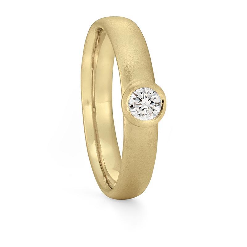 Diamond Engagement Ring Gold Designed By Jacks Turner Bristol Jeweller