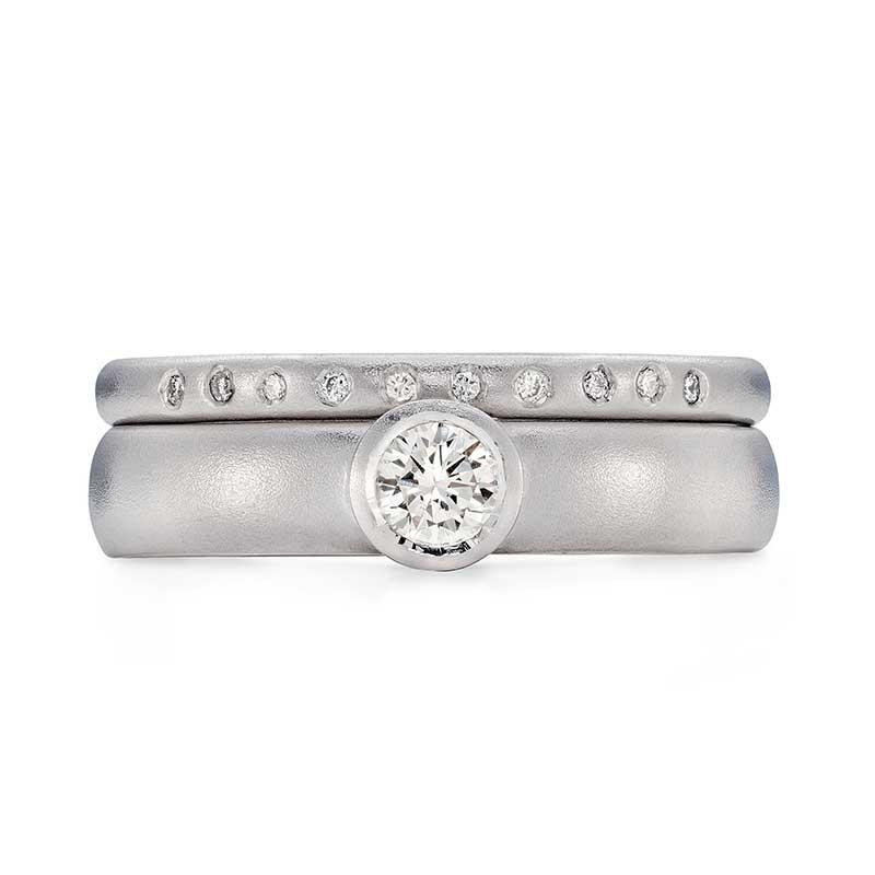 Diamond Engagement Ring Platinum 10 Diamond 2Mm Wedding Ring Designed By Jacks Turner Bristol Jeweller