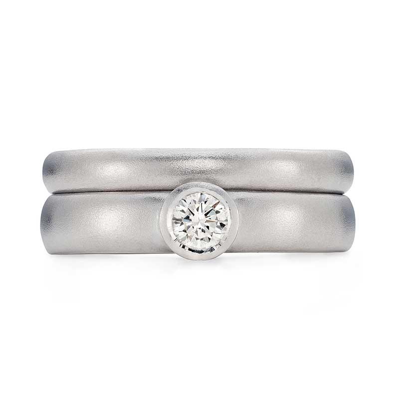 Diamond Engagement Ring Platinum 3Mm Wedding Ring Designed By Jacks Turner Bristol Jeweller
