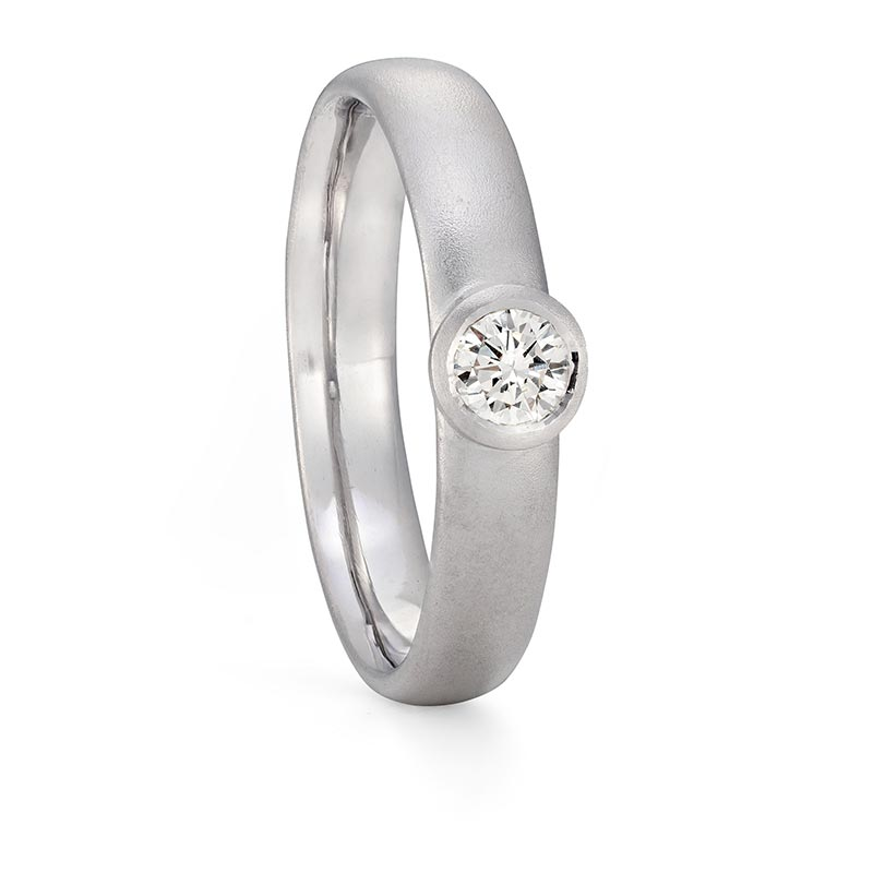Diamond Engagement Ring Platinum Designed By Jacks Turner Bristol Jeweller