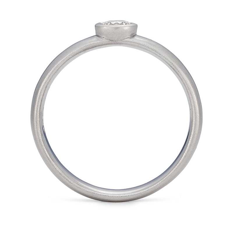 Front View Diamond Engagement Ring Platinum Designed By Jacks Turner Bristol Jeweller