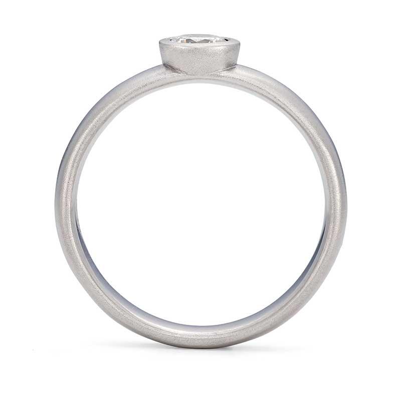 Front View Grand Diamond Engagement Ring Platinum Designed By Jacks Turner Bristol Jeweller