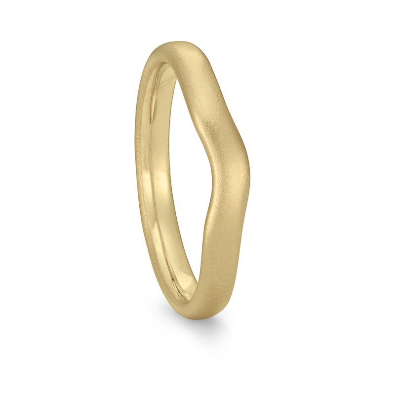 Gold Curved Wedding Ring 3Mm Wide Designed By Jacks Turner Bristol Jeweller