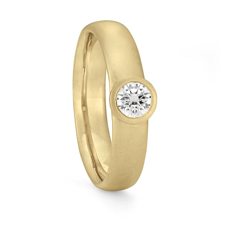 Grand Diamond Engagement Ring Gold Designed By Jacks Turner Bristol Jeweller