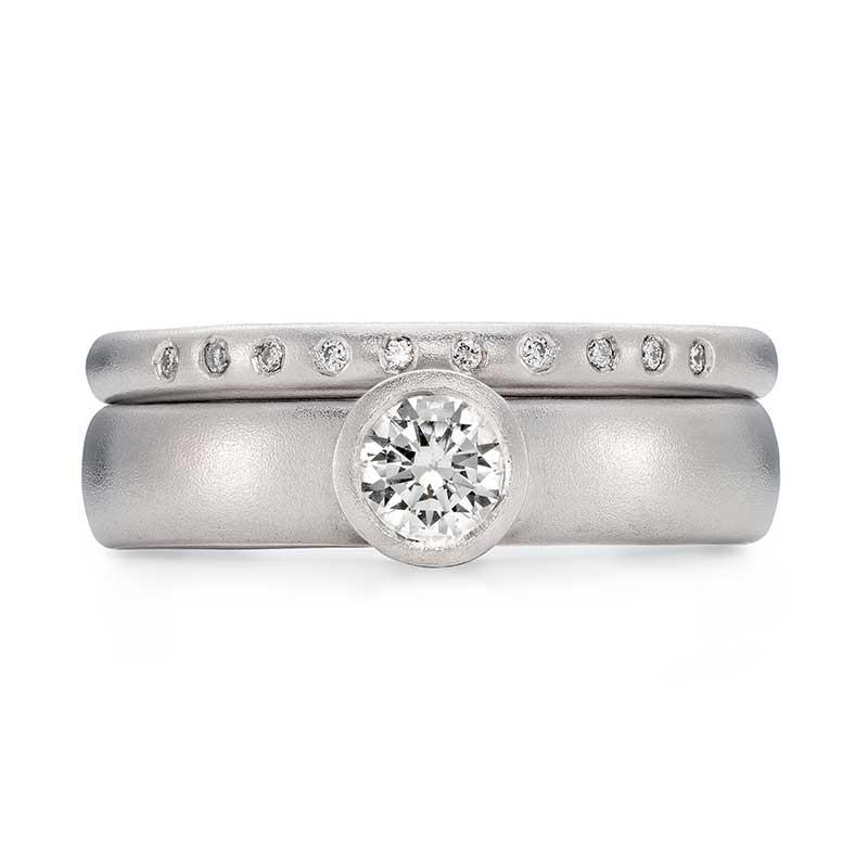 Grand Diamond Engagement Ring Platinum 10 Diamond 2Mm Wedding Ring Designed By Jacks Turner Bristol Jeweller