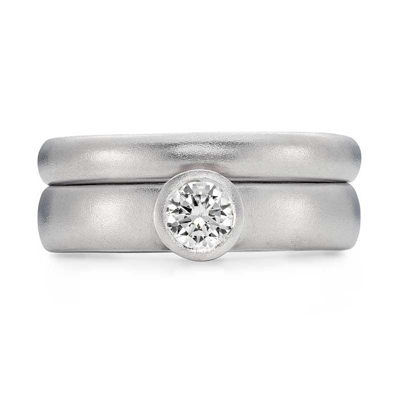 Grand Diamond Engagement Ring Platinum 3Mm Wedding Ring Designed By Jacks Turner Bristol Jeweller