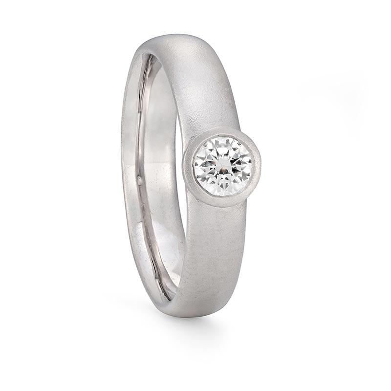 Grand Diamond Engagement Ring Platinum Designed By Jacks Turner Bristol Jeweller