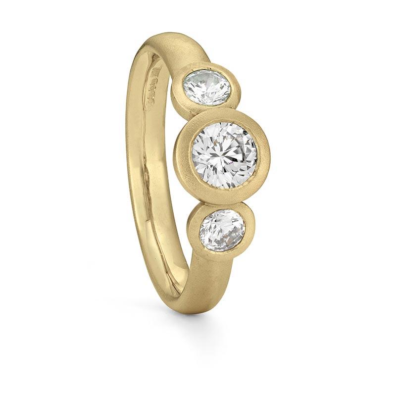 Grand Diamond Trilogy Ring Gold Engagement Designed By Jacks Turner Bristol Jeweller