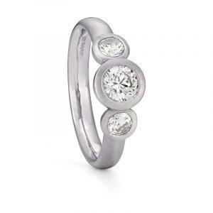 Grand Diamond Trilogy Ring Platinum Engagement Designed By Jacks Turner Bristol Jeweller