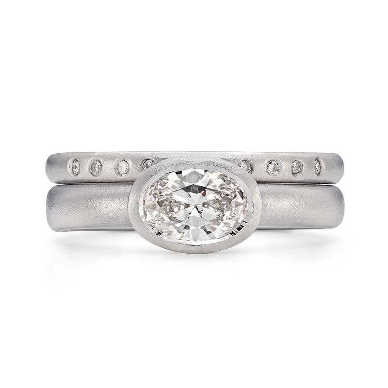 Grand Oval Diamond Engagement Ring Platinum 10 Diamond 2Mm Wedding Ring Designed By Jacks Turner Bristol Jeweller