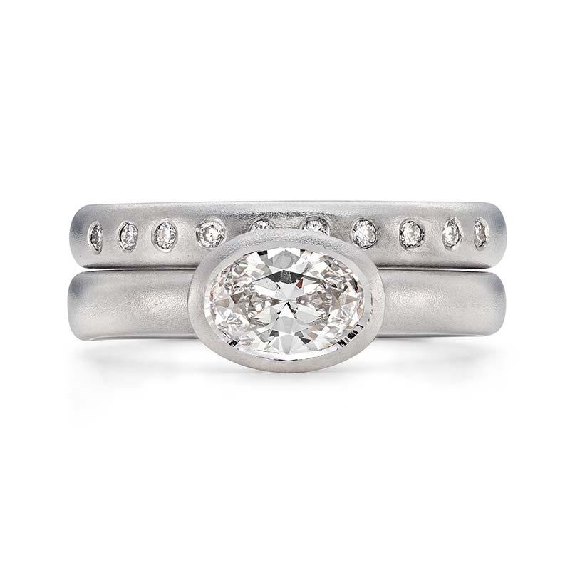 Grand Oval Diamond Engagement Ring Platinum 10 Diamond 3Mm Wedding Ring Designed By Jacks Turner Bristol Jeweller