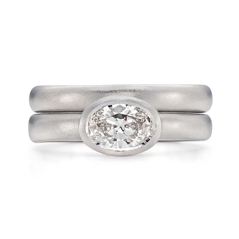 Grand Oval Diamond Engagement Ring Platinum 3Mm Wedding Ring Designed By Jacks Turner Bristol Jeweller