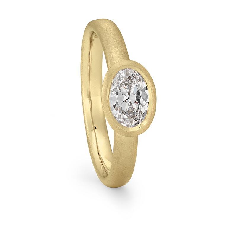 Grand Oval Diamond Ring Gold Engagement Designed By Jacks Turner Bristol Jeweller