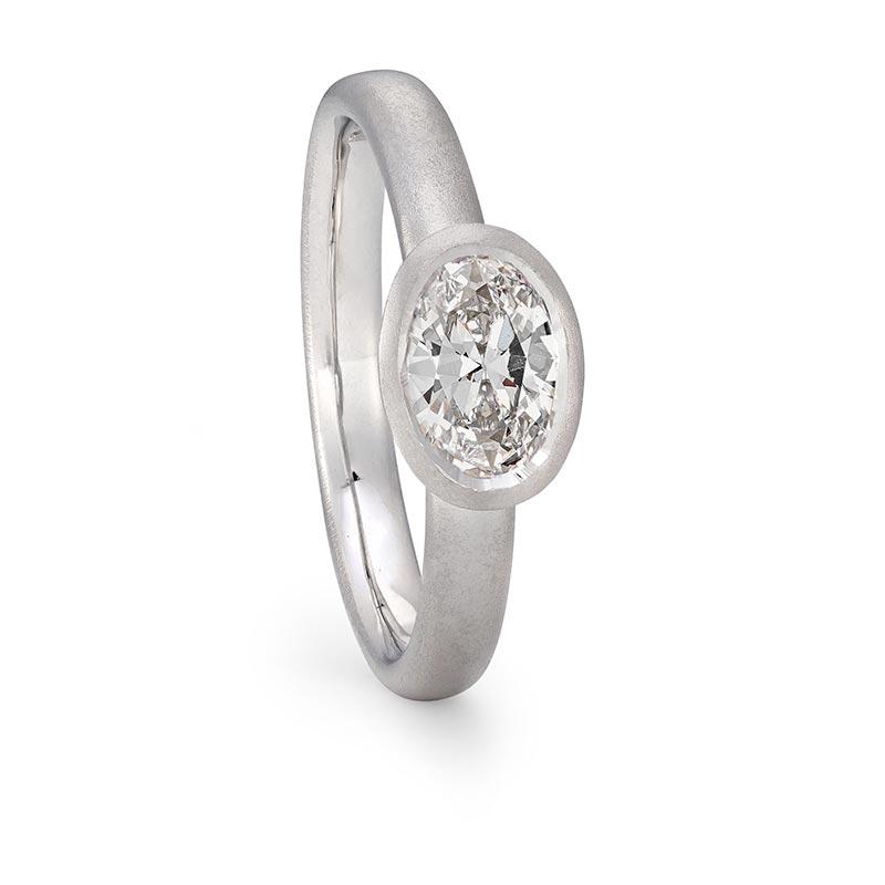 Grand Oval Diamond Ring Platinum Engagement Designed By Jacks Turner Bristol Jeweller