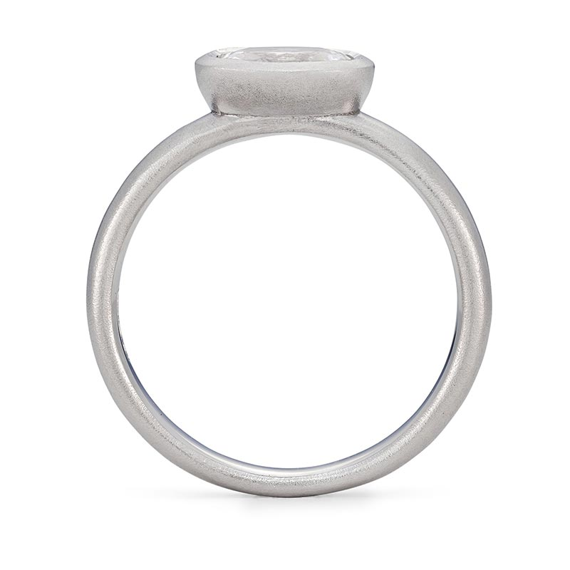 Grand Oval Diamond Ring Platinum Engagement Front View Designed By Jacks Turner Bristol Jeweller