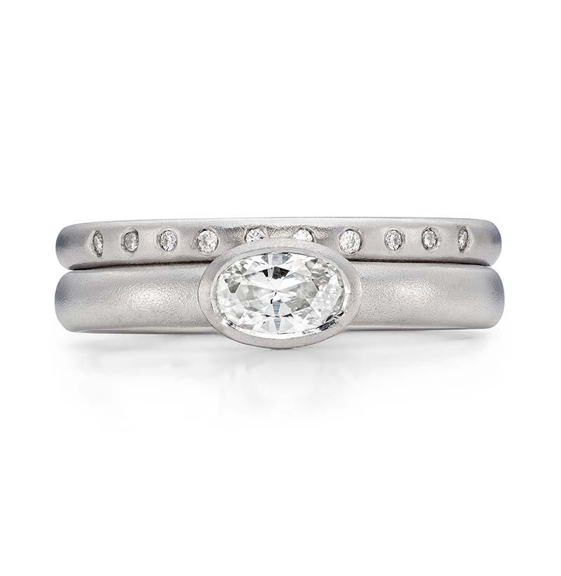 Oval Diamond Engagement Ring Platinum 10 Diamond 2Mm Wedding Ring Designed By Jacks Turner Bristol Jeweller 1
