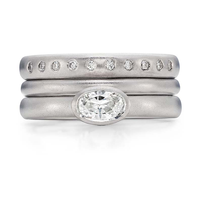 Oval Diamond Engagement Ring Platinum 2Mm Wedding Ring 10 Diamond 3Mm Eternity Ring Designed By Jacks Turner Bristol Jeweller 1