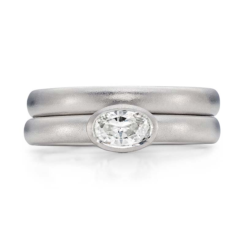 Oval Diamond Engagement Ring Platinum 3Mm Wedding Ring Designed By Jacks Turner Bristol Jeweller 1