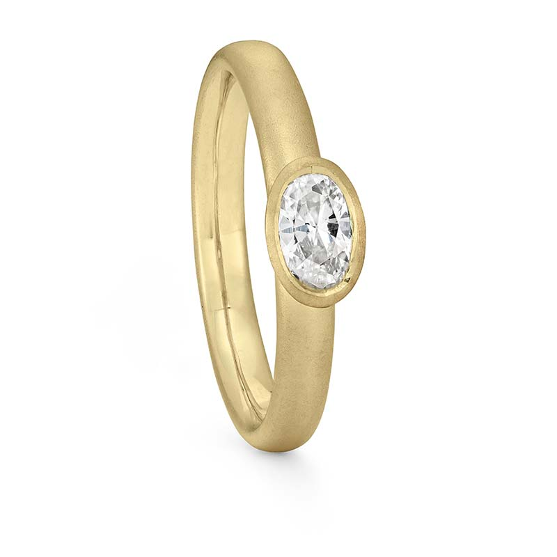 Oval Diamond Ring Gold Engagement Designed By Jacks Turner Bristol Jeweller
