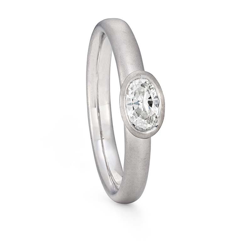 Oval Diamond Ring Platinum Engagement Designed By Jacks Turner Bristol Jeweller