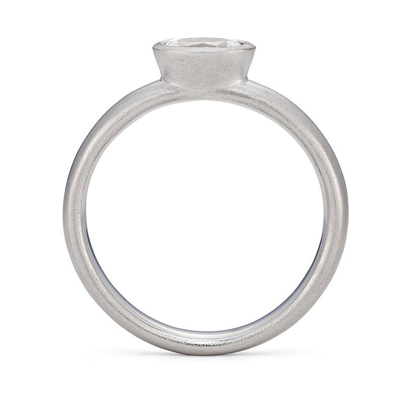 Oval Diamond Ring Platinum Engagement Front View Designed By Jacks Turner Bristol Jeweller