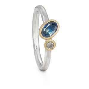 Oval Sapphire Diamond Alternative Enagagement Ring Jacks Turner