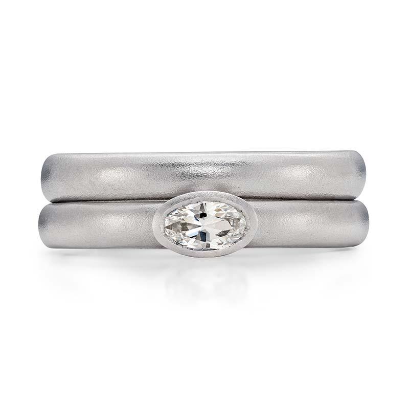 Petite Oval Diamond Engagement Ring Platinum 3Mm Wedding Ring Designed By Jacks Turner Bristol Jeweller