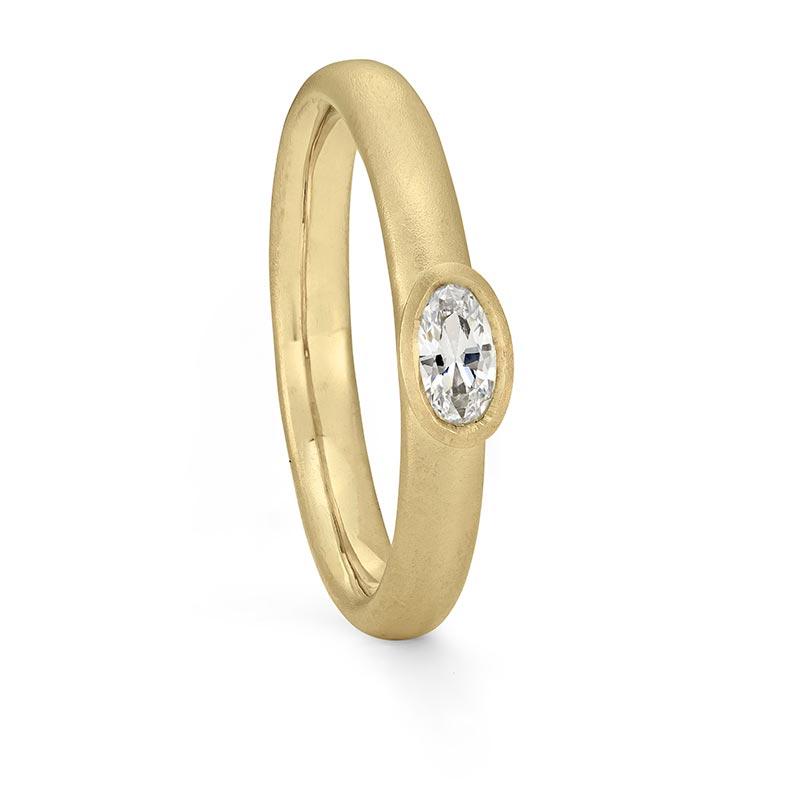 Petite Oval Diamond Ring Gold Engagement Designed By Jacks Turner Bristol Jeweller