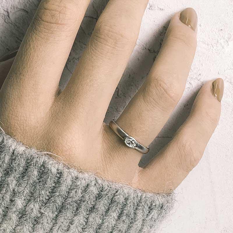 Petite Oval Diamond Ring On Model Platinum Engagement Designed By Jacks Turner Bristol Jeweller Uk