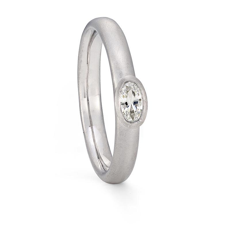 Petite Oval Diamond Ring Platinum Engagement Designed By Jacks Turner Bristol Jeweller