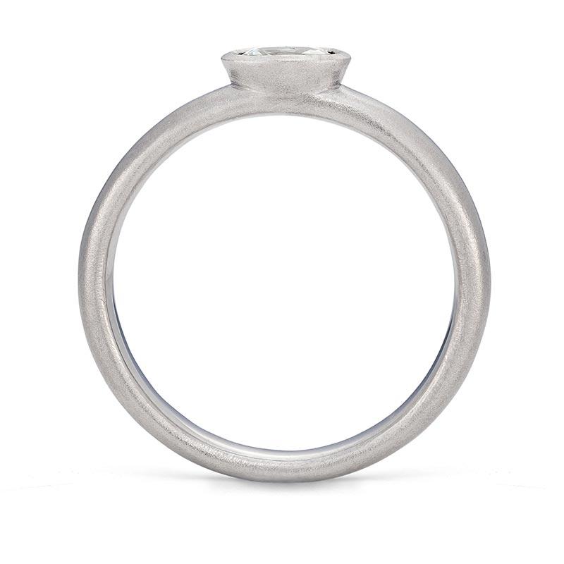 Petite Oval Diamond Ring Platinum Engagement Front View Designed By Jacks Turner Bristol Jeweller