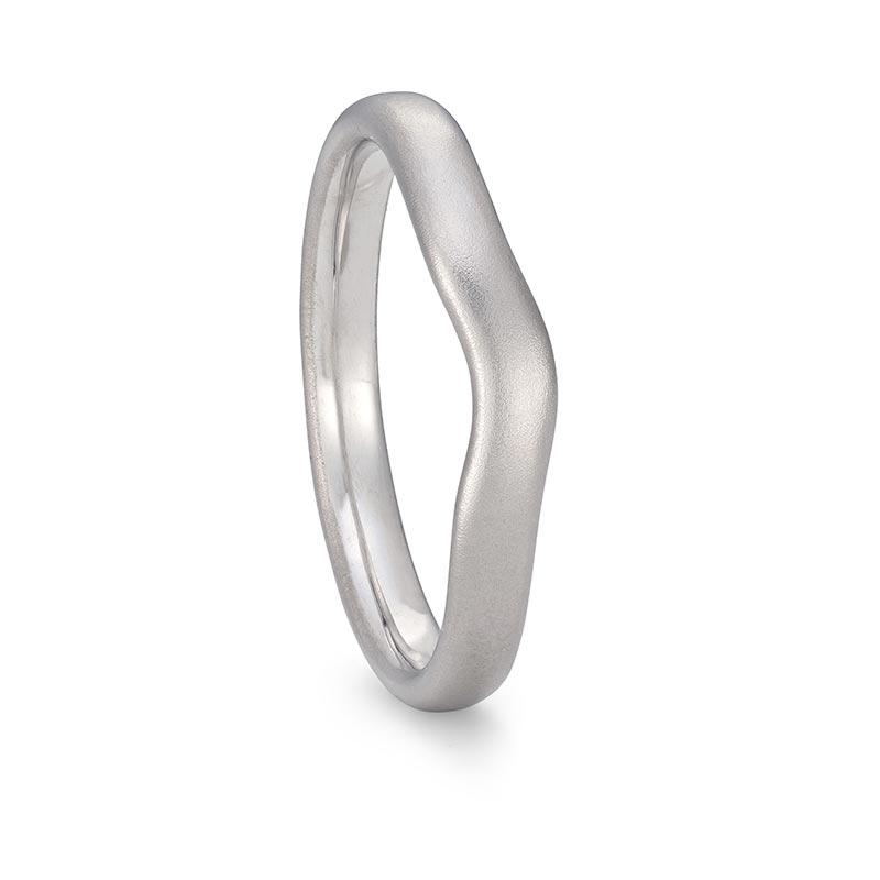 Platinum Curved Wedding Band 3Mm Wide Designed By Jacks Turner Bristol Jeweller