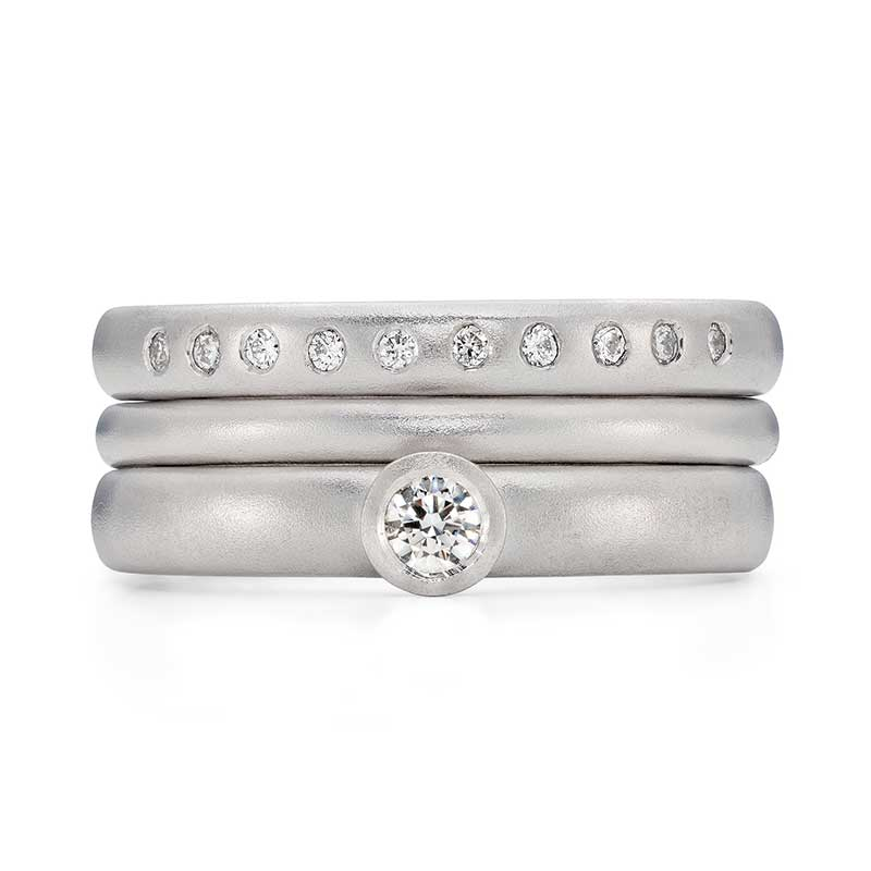 Platinum Diamond Engagement Ring Platinum 2Mm Wedding Ring 10 Diamond 3Mm Eternity Ring Designed By Jacks Turner Bristol Jeweller