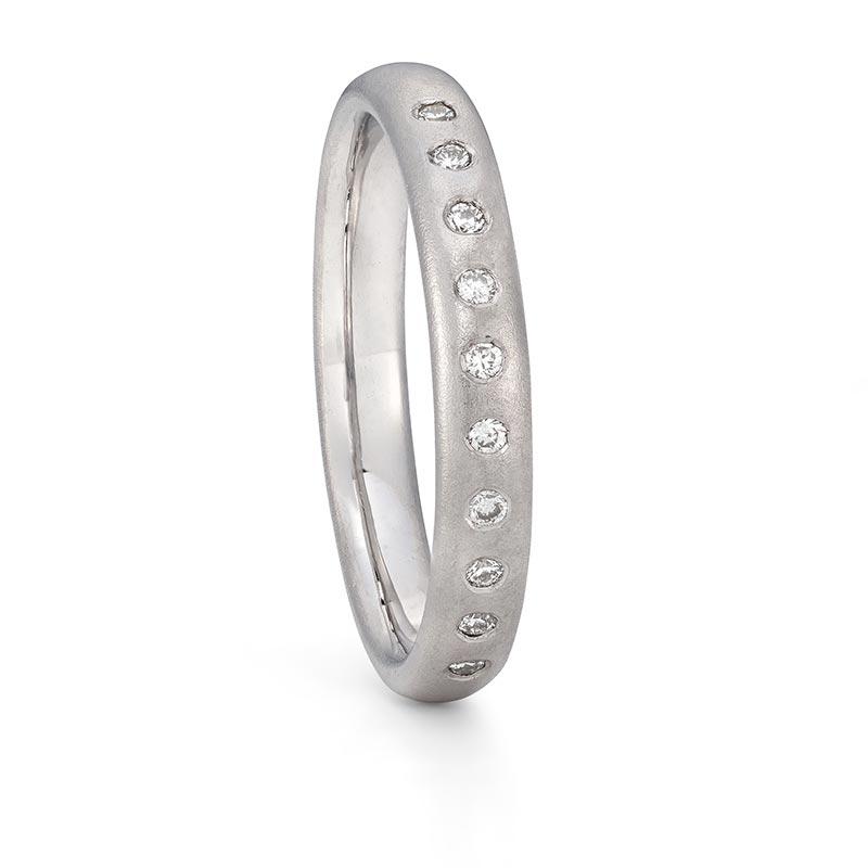 Platinum Diamond Wedding Ring 3Mm Wide Designed By Jacks Turner Bristol Jeweller