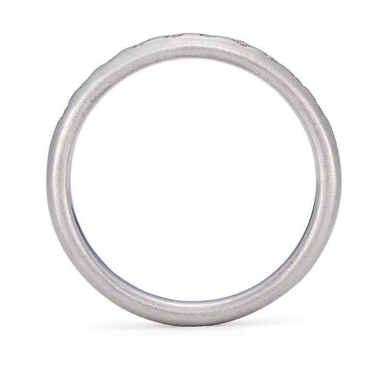 Platinum Diamond Wedding Ring 3Mm Wide Front View Designed By Jacks Turner Bristol Jeweller