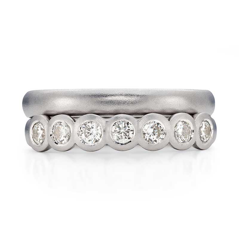 Seven Diamond Eternity Ring Platinum 3Mm Wedding Ring Designed By Jacks Turner Bristol Jeweller