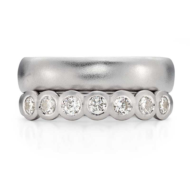 Seven Diamond Eternity Ring Platinum 5Mm Wedding Ring Designed By Jacks Turner Bristol Jeweller