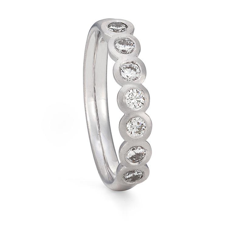 Seven Diamond Eternity Ring Platinum Designed By Jacks Turner Bristol Jeweller