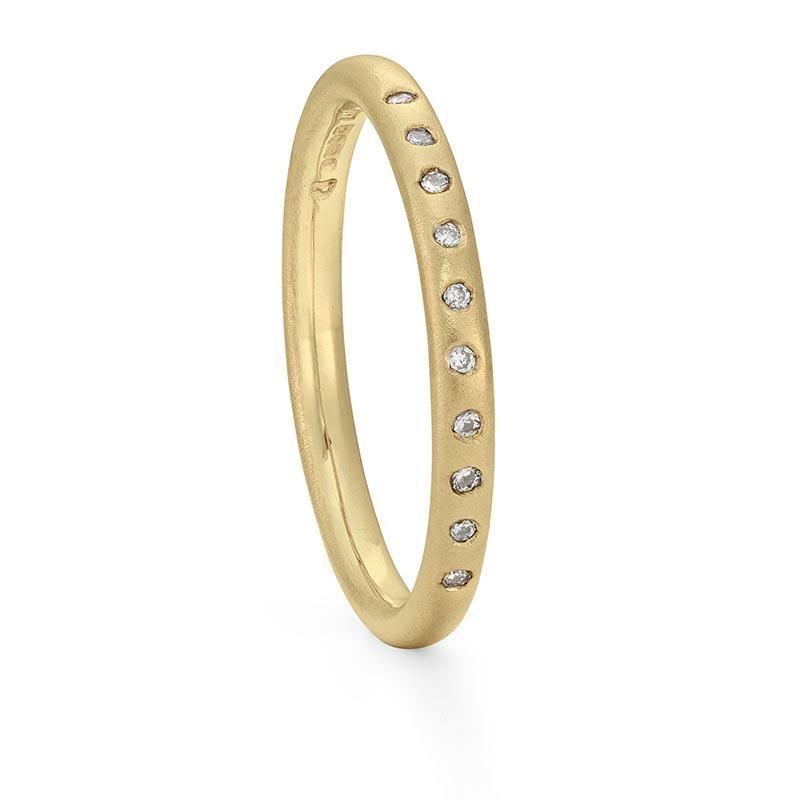 Thin Diamond Gold Wedding Band Designed By Jacks Turner Bristol Jeweller