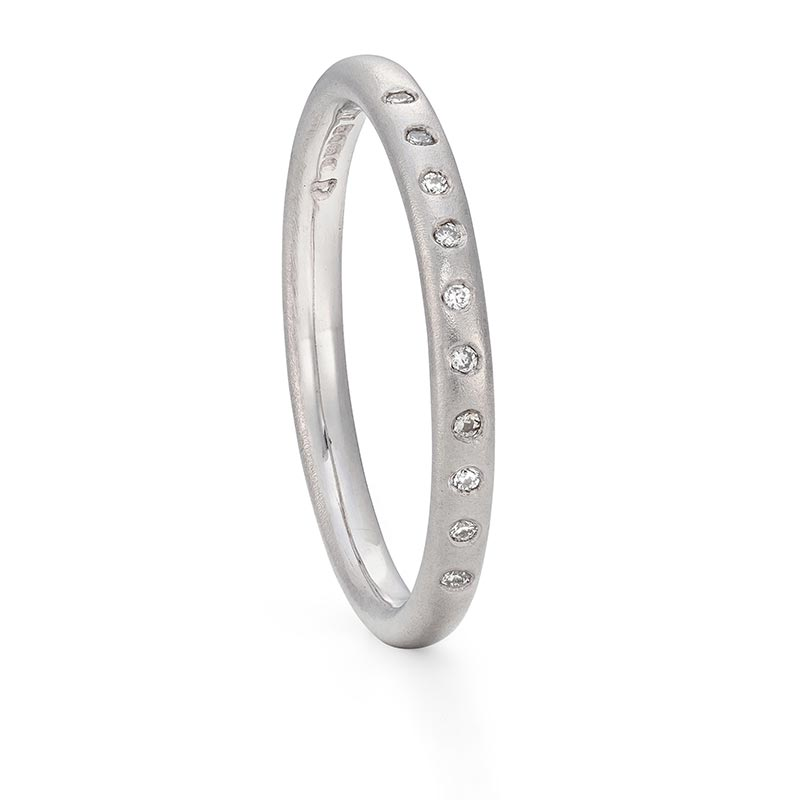 Thin Diamond Wedding Band Designed By Jacks Turner Bristol Jeweller