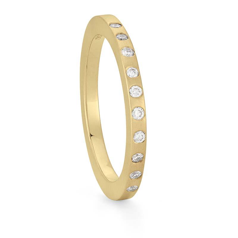 Thin Diamond Wedding Ring Gold Designed By Jacks Turner Bristol Jeweller